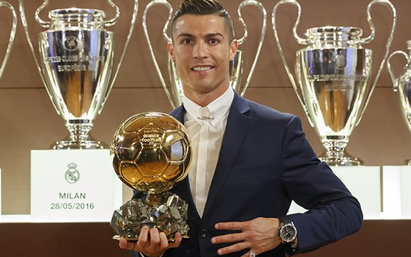 Cristiano Ronaldo won the Ballon d'Or for a fourth time
