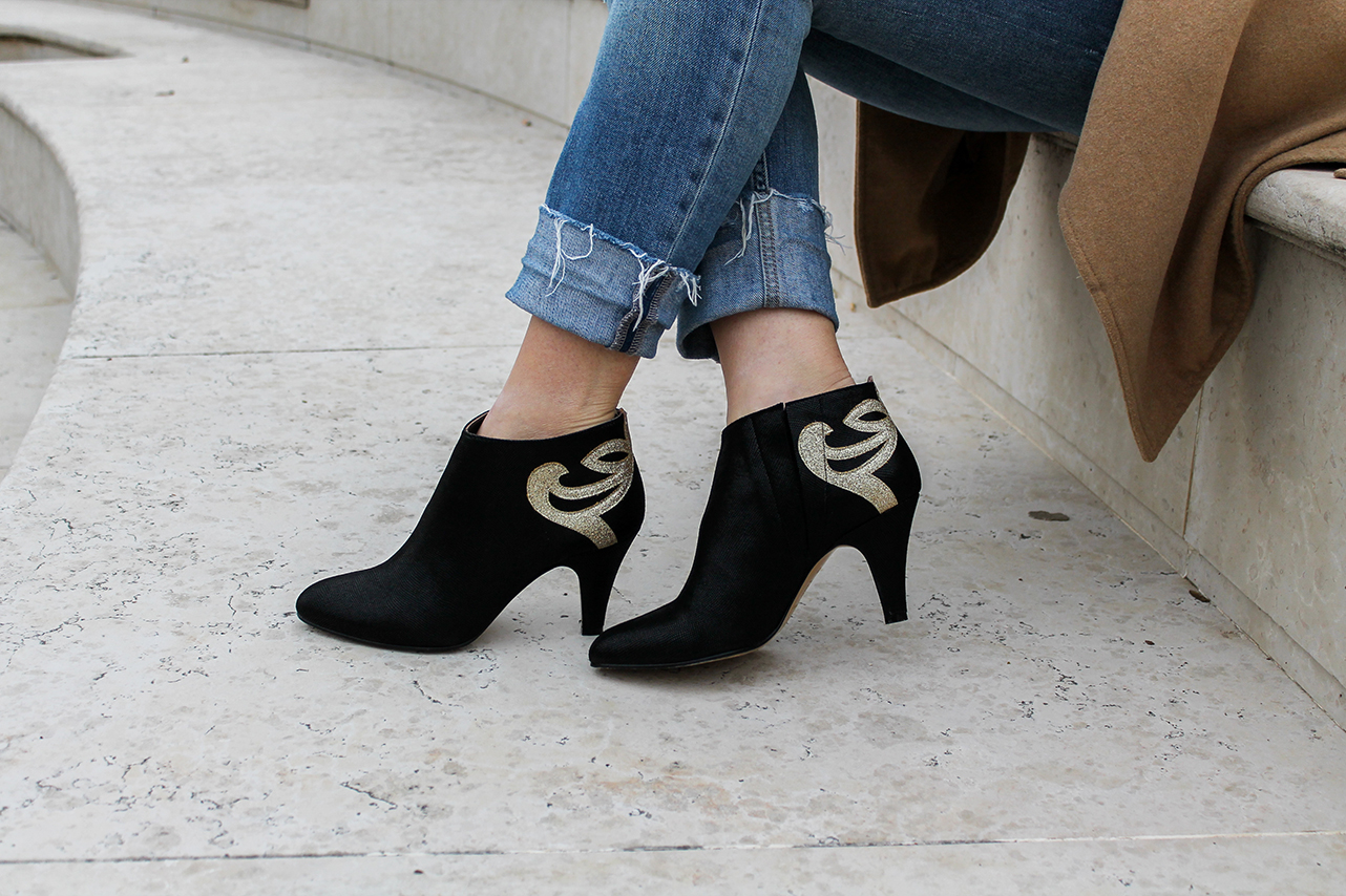 patricia blanchet glitter ankle boots