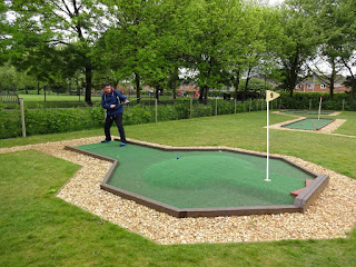 Playing Crazy Golf at Eaton Park in Norwich
