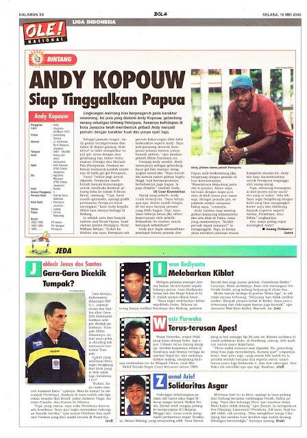 LIGA INDONESIA PROFIL BINTANG ANDY KOPOUW