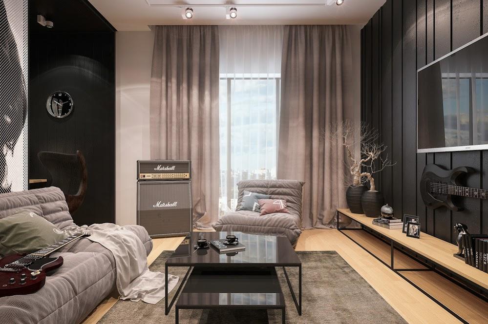 grey-black-living-room