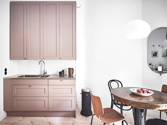 Harmony and design: UNA BELLA COCINA ROSA