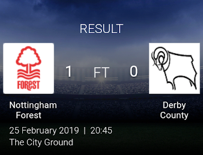 Nottingham vs Derby County 1-0 Football Highlights and Goals 2019