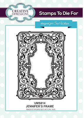 Creative Expressions Stamps To Die For Jennifer's Frame UMS814