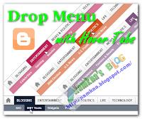 Menu xổ dọc với màu tabs thay đổi cho blogger