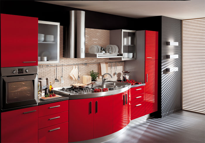 Best 55 Modular Red Kitchen Designs Cabinets Walls Color Combinations 2018