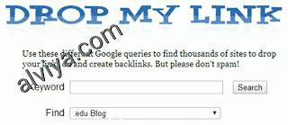 Cara Mencari Backlink Berkualitas Tinggi - drop my link