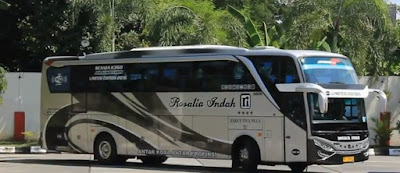 foto bus rosalia indah super top scania k360 opticruise