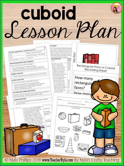 Rectangular Prism or Cuboid scripted Lesson Plan