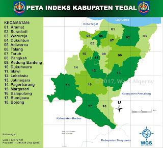 Peta Indeks Kabupaten Tegal - My Diary