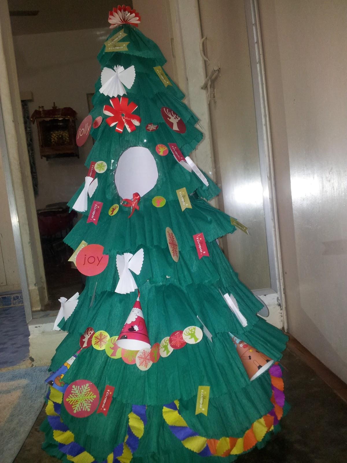 Sony Little Box Paper Christmas Tree For Fancy Dress Costume