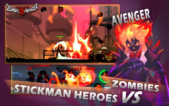 Download Zombie Avengers : Stickman War Z Apk Mod Skill No Cooldown V2.1.8 For Android Terbaru 2017 2