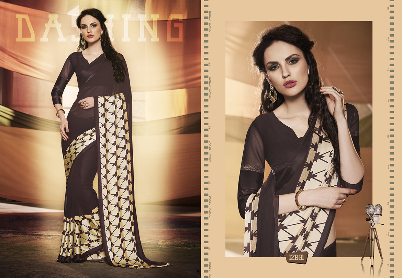 L.T –GRAZIA-Designer Heavy Georgette With Satin Zari patta Saree