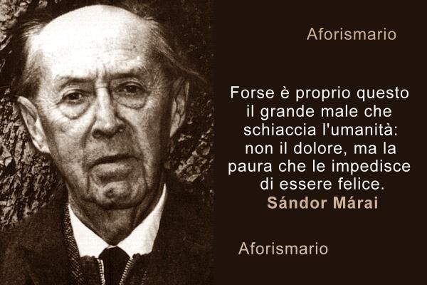 Aforismario Aforismi Frasi E Citazioni Di Sándor Márai