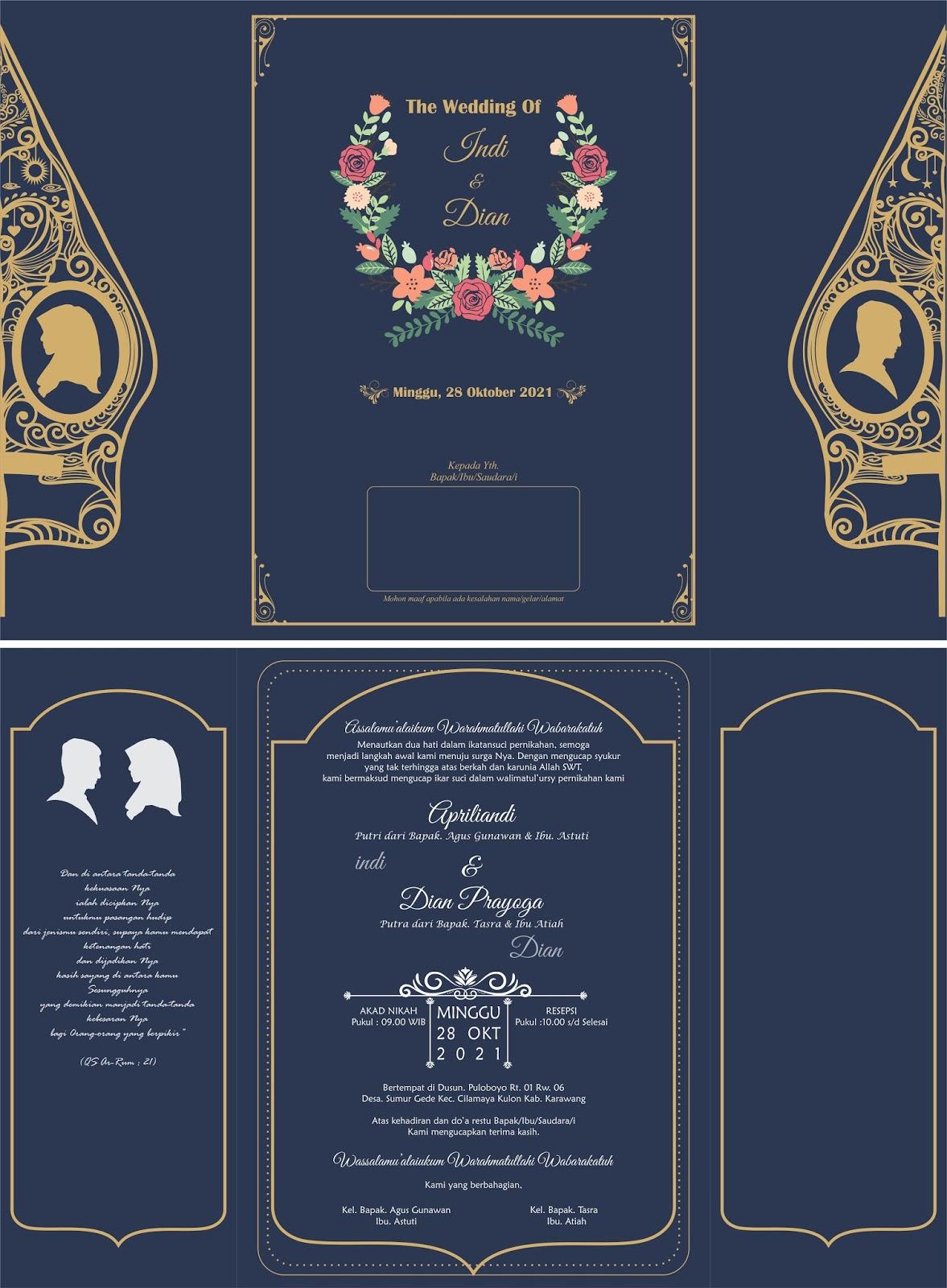 5600 Koleksi Gambar Desain Undangan Pernikahan Cdr Free HD Terbaik Unduh Gratis