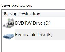 back up files with USB thumb drive