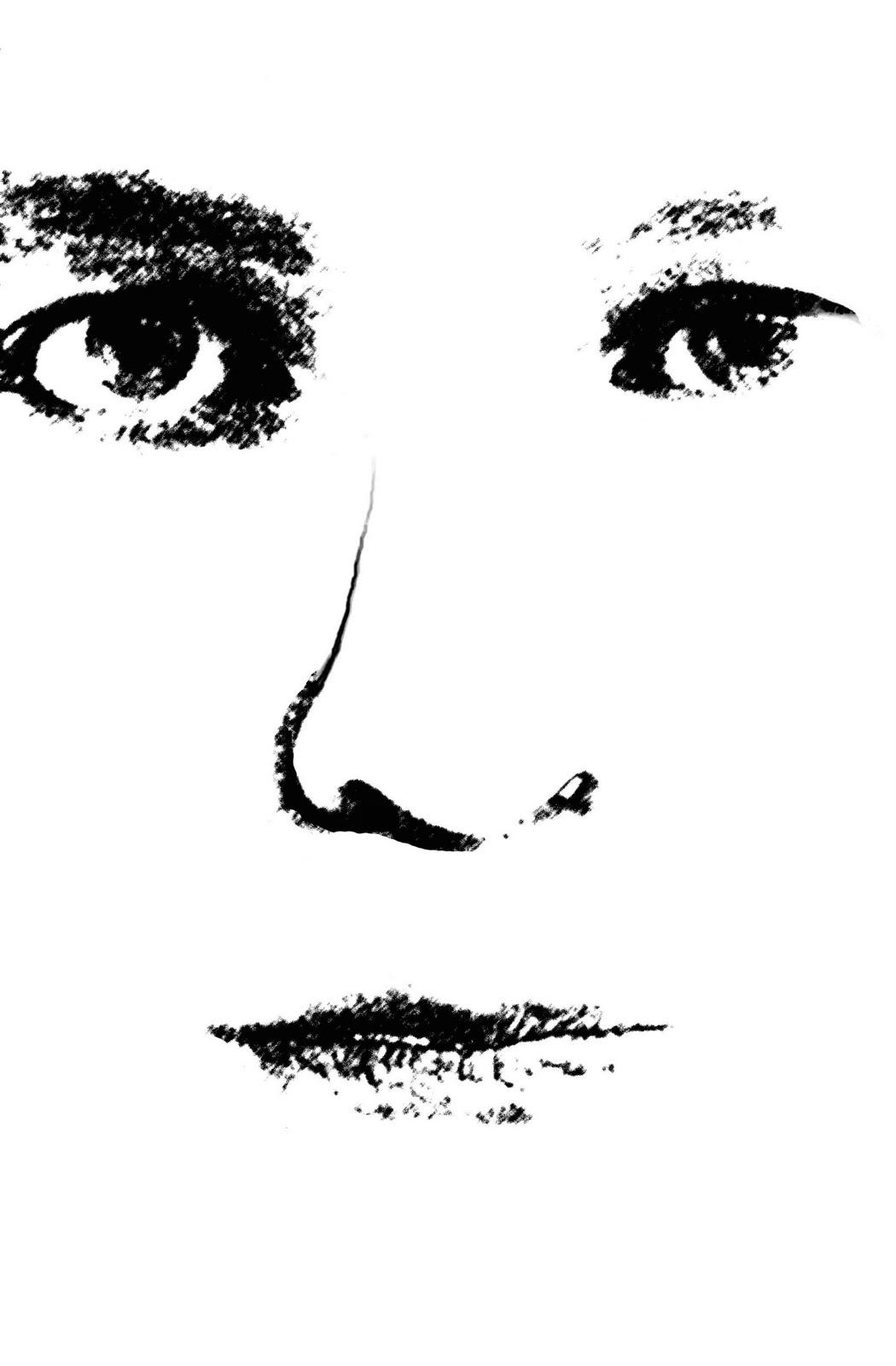 Bernasign: Self portrait, using the technique of screen