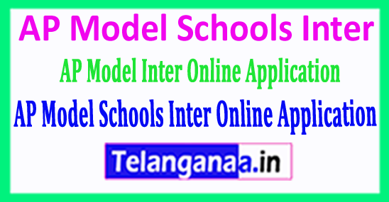 AP Model Schools Inter 2018 Online Application