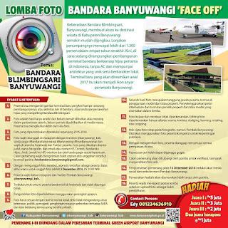 "Lomba Foto Bandara Banyuwangi ""Face Off"""
