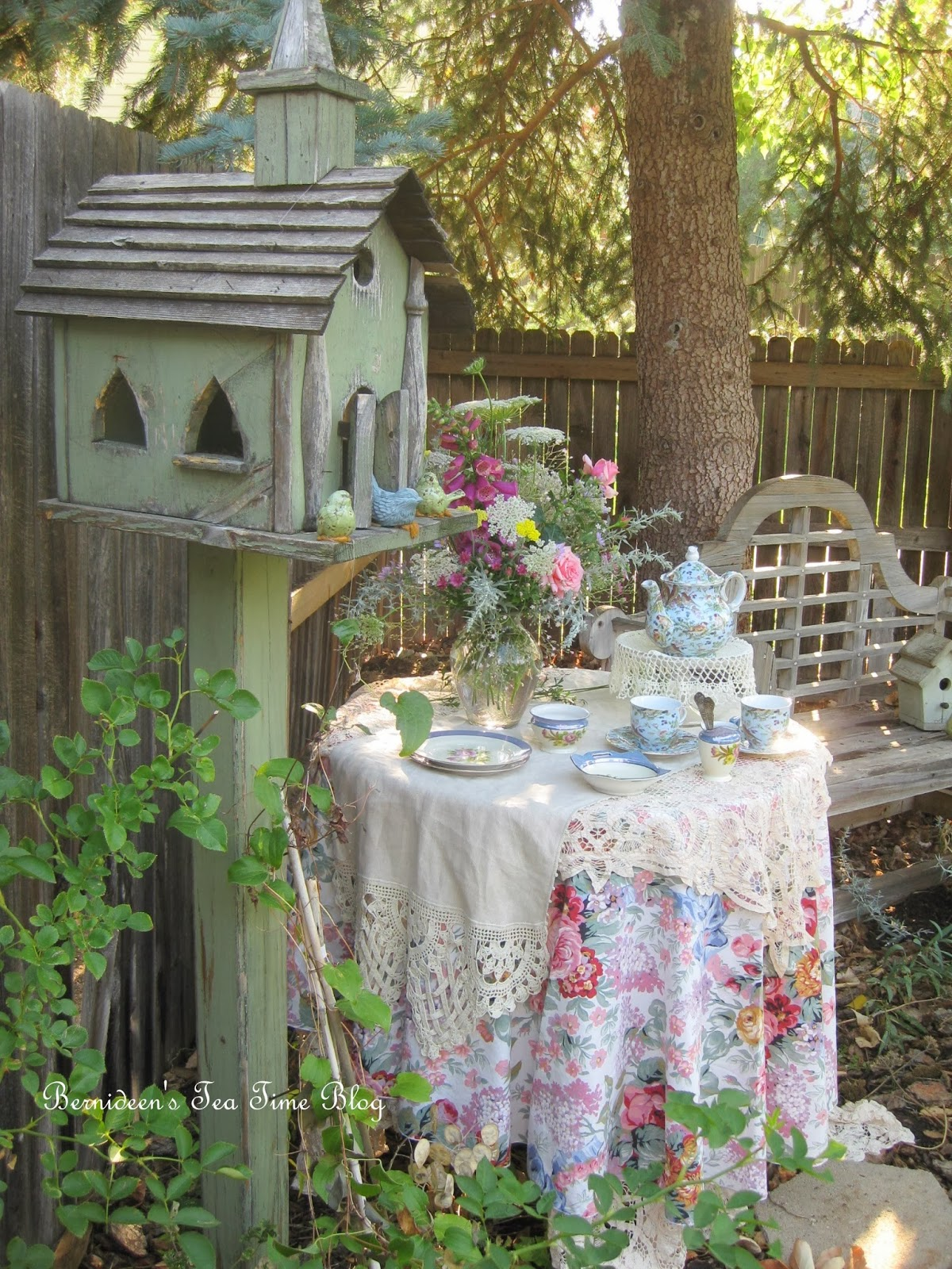 Bernideen's Tea Time Cottage And Garden TEA IN THE GARDEN WITH