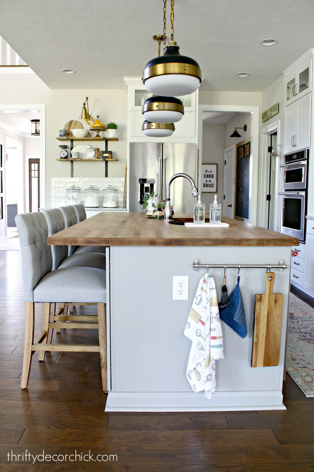 How to add character to basic kitchen island