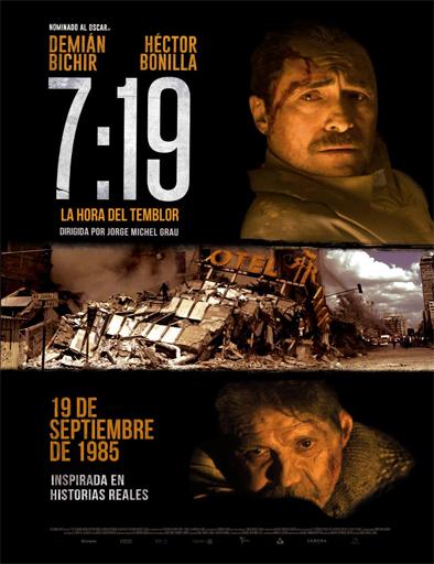 Ver 7:19, la hora del temblor (2016) Online