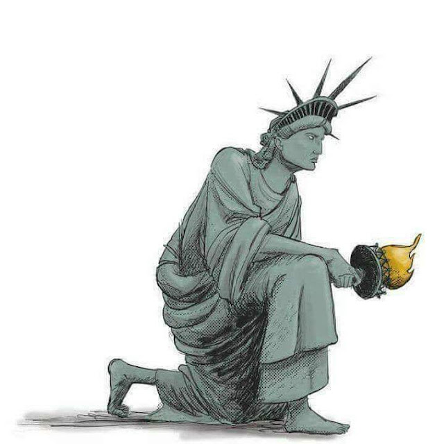 Lady Liberty Takes a knee #takeaknee