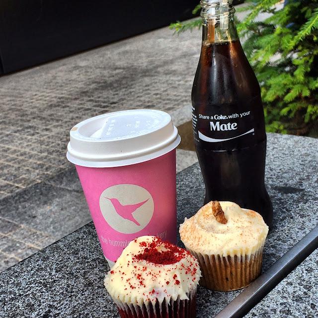 Hummingbird bakery i London med lækre cupcakes