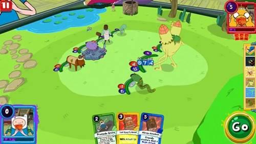 Guerra de Cartas: O Reino é baseado em um episódio de Hora da Aventura, a série animada do Cartook Network