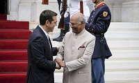 Τσίπρας με Ινδό πρόεδρο: Με τη συμφωνία η Ινδία θα χρησιμοποιεί την ονομασία Βόρεια Μακεδονία