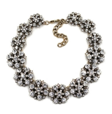 Yosa Crystal Garland Collar Necklace