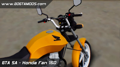Honda Fan 150 + Coyote + Ronco para GTA San Andreas