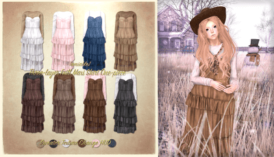 {amiable}Three layer Frill Maxi Skirt One-piece