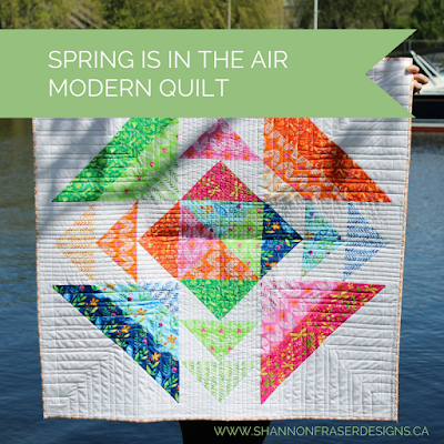 Spring Is In The Air   Modern Quilt Pattern   Shannon Fraser Designs   Baby Quilt