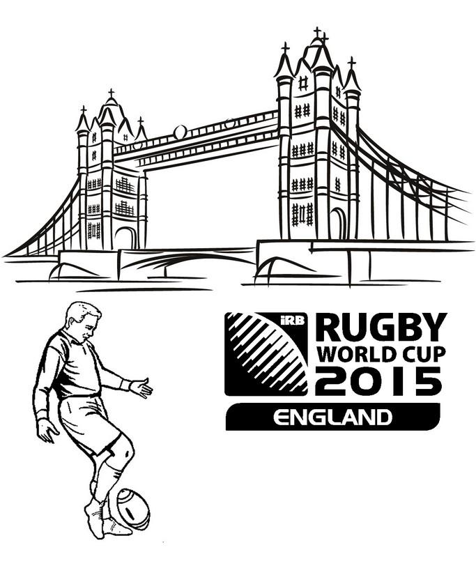 coloriage coupe du monde de rugby 2015