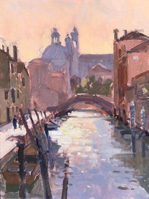 #394 'Campo Ognissanti, Venice' 9×12″