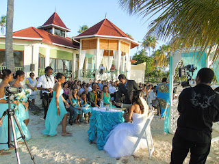 Beach wedding at the Heritage Pavilion Pigeon point Tobago