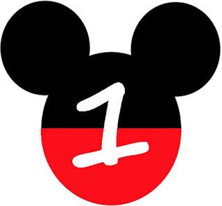 Abecedario en Cabezas de Mickey Mouse. Mickey Heads with Alphabet.