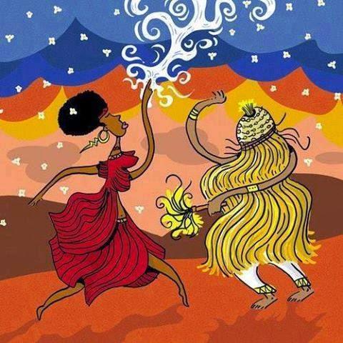 Batuque do Rio Grande Sul Iansã Lendas dos Orixás Orixás Oyá Religião Afro Xapanã  - Oyá/Iansã transforma as feridas de Xapanã em pipoca