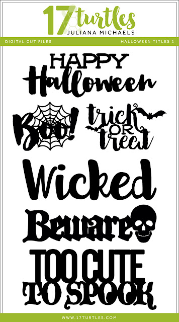 Halloween Titles Free Digital Cut Files by Juliana Michaels 17turtles