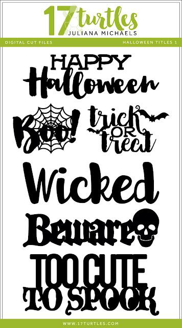 Halloween Titles Free Digital Cut Files by Juliana Michaels 17turtles