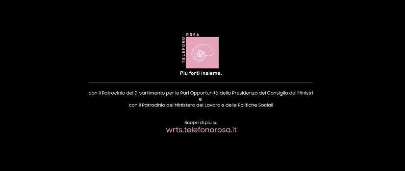 Modella Samsung pubblicità Words con tutte donne ''Telefono Rosa''