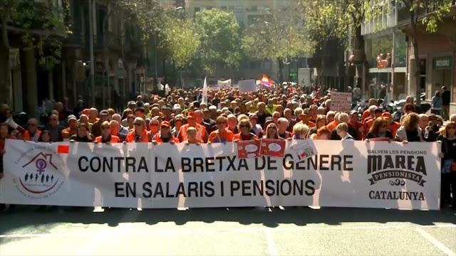 Jubilados invaden calles en España para defender pensiones públicas