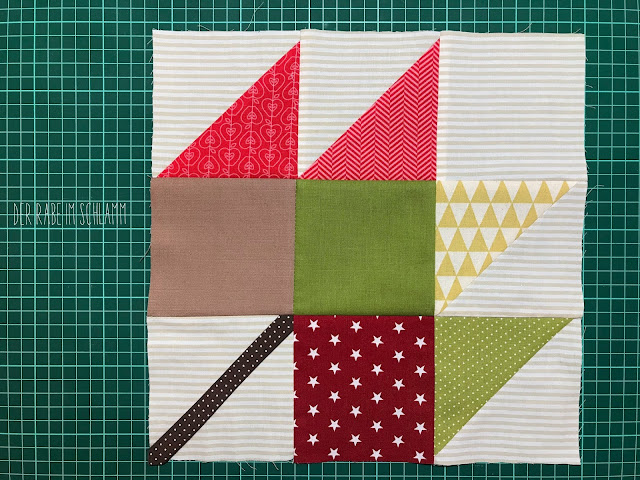Der Rabe im Schlamm, Quiltblock, Fall Block Party, Scrappy Maple Leaf Block, Lori Holt, Farm Girl Vintage