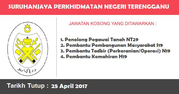 Jawatan Kosong di Suruhanjaya Perkhidmatan Negeri Terengganu