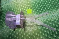 Schleife einfädeln: 50pcs Wedding Candy Boxes Butterfly Laser Cut Kartonage Schachtel Bonboniere Geschenkbox Hochzeit (Purple)