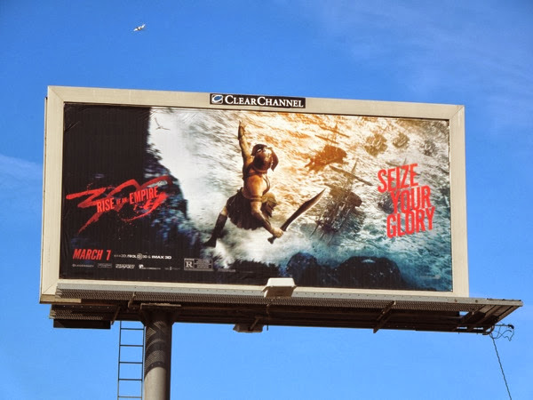 300 Rise of an Empire Seize your glory billboard