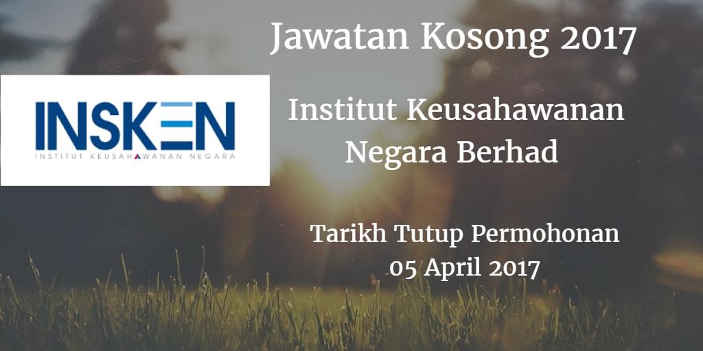 Jawatan Kosong INSKEN 05 April 2017