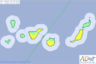 Se desactiva aviso naranja altas temperaturas en Gran Canaria 20 julio