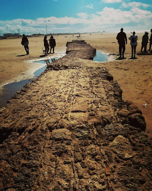 Storm uncovers ancient remains of Roman aqueduct and road in Cádiz